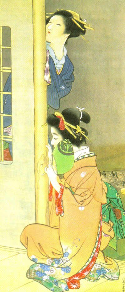 上村松園 月影 1908年