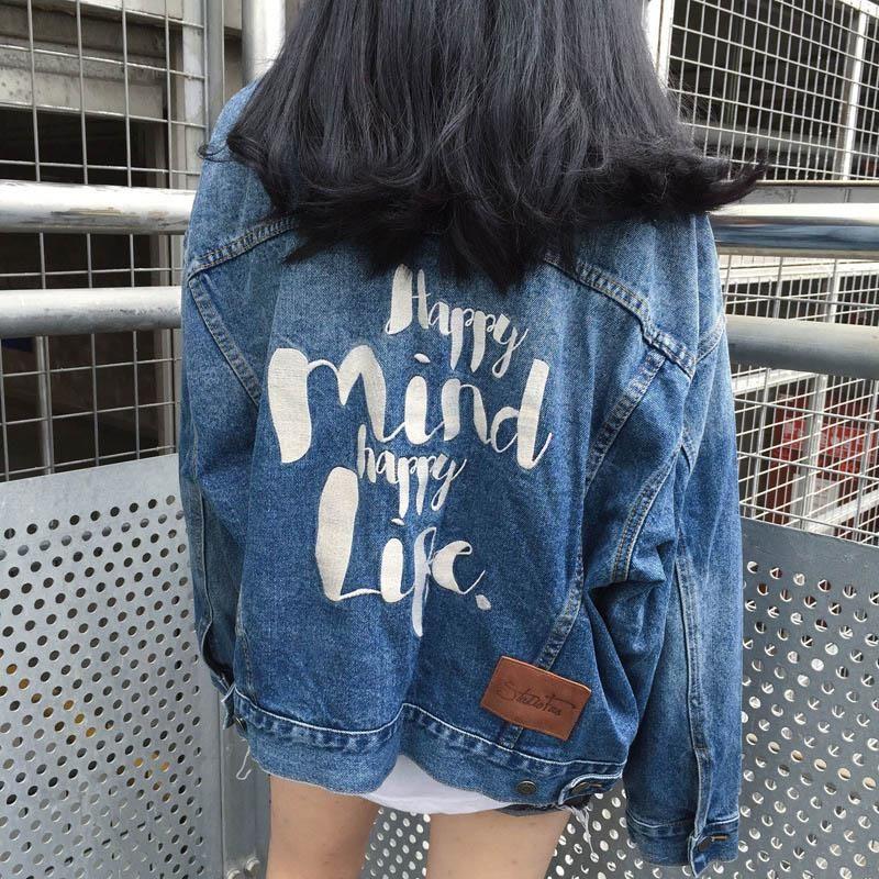 66cf3940d2 2018 New Women's Denim Jacket Spring & Autumn Long Sleeve Outerwear ...