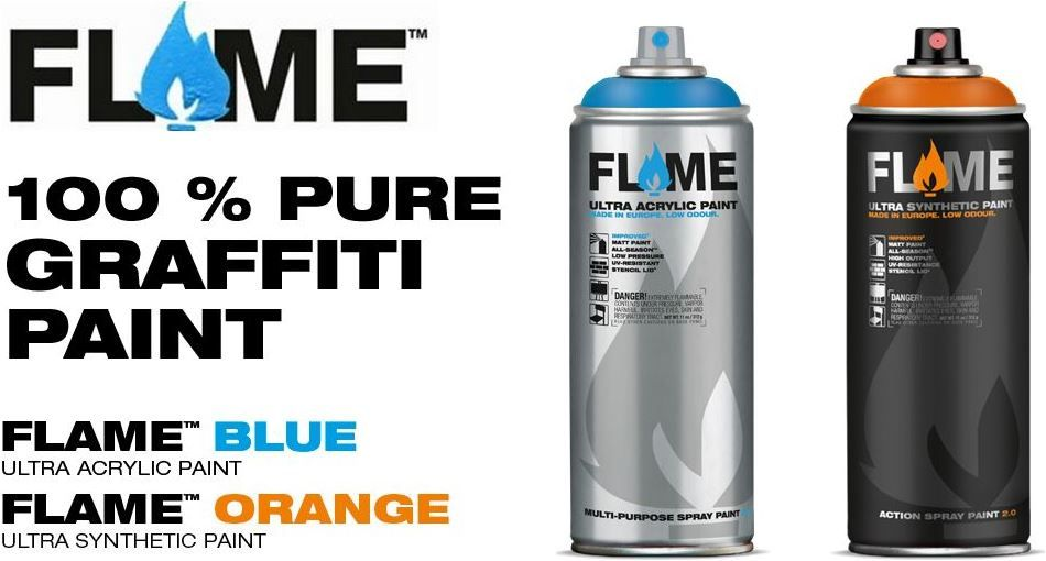 Both Flame spray paint ranges are in stock! | Graffiti Supplies