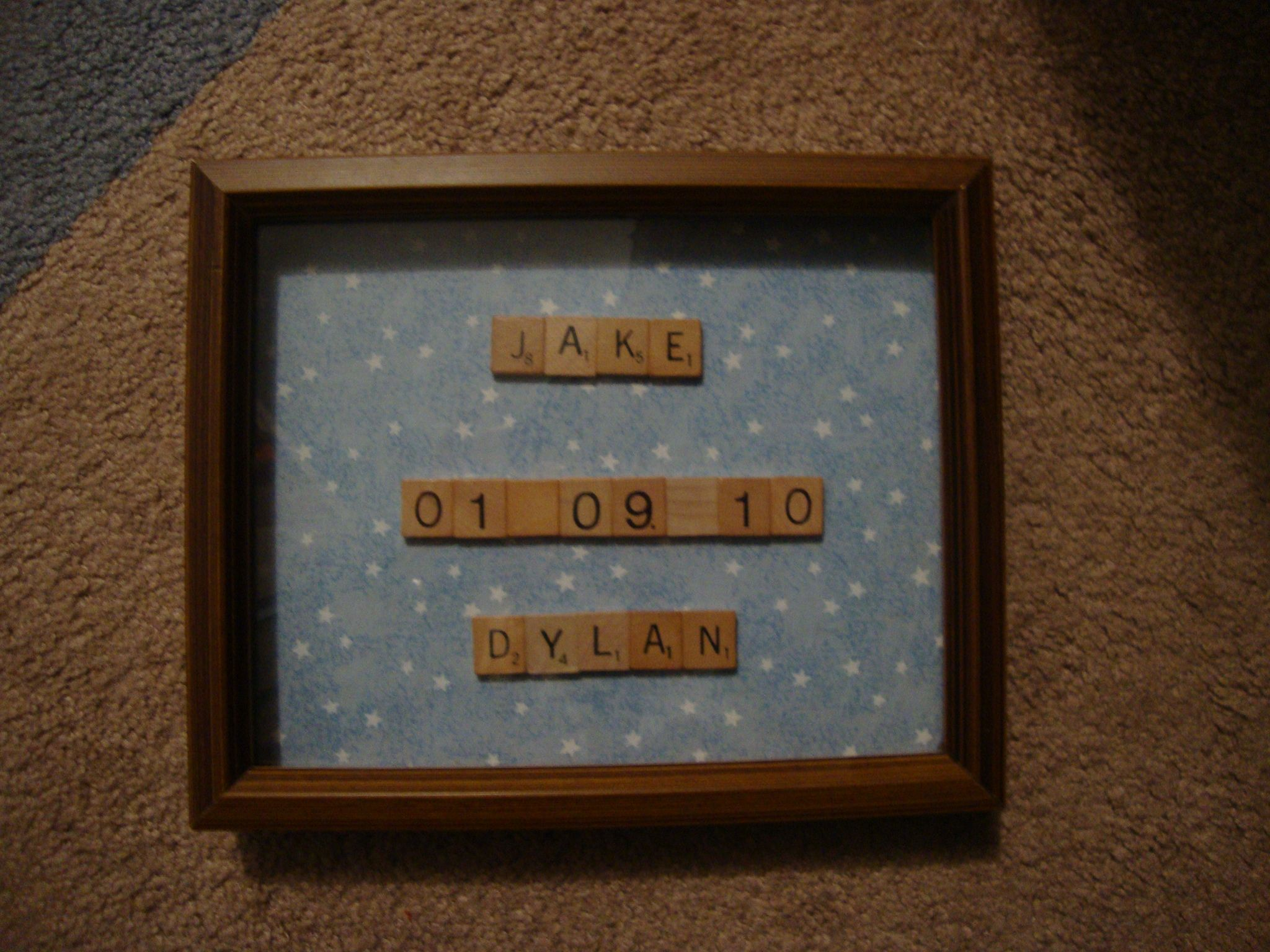 1000 images about Baby birth announce ideas – Scrabble Baby Announcement