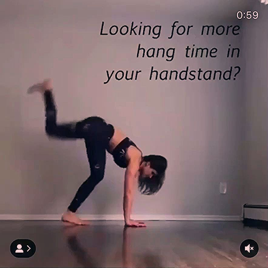 Fitness goals ! Learn how to handstand for longer duration !