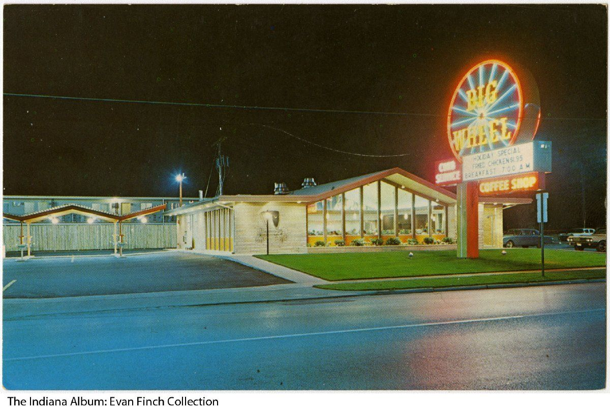 Postcard Of The Big Wheel Restaurant Gary Indiana Ca 1965