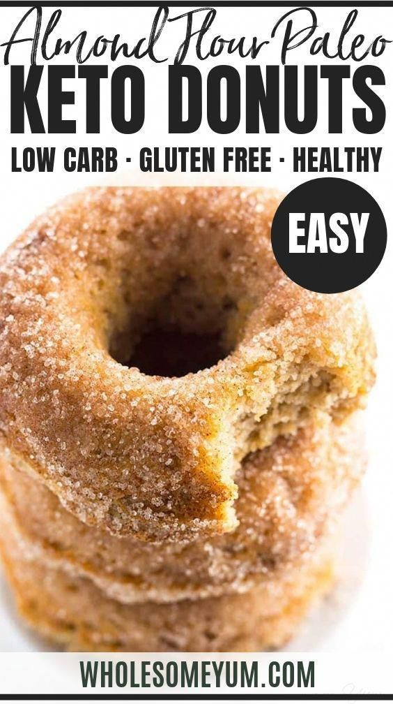Low Carb Donuts Recipe - Almond Flour Keto Donuts (Paleo, Gluten Free) - This low carb donuts recipe with almond flour is easy to make. These keto donuts taste just like regular sugar coated ones, with options for paleo donuts, too! #wholesomeyum #keto #lowcarb #breakfast #snack #dessert #paleo #glutenfree #ketobreakfast #FoodsICanEatOnKetoDiet