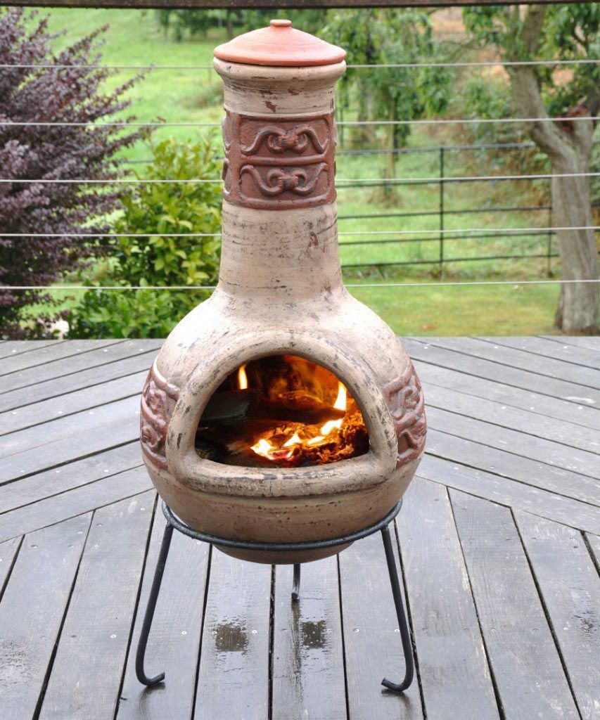 Beautiful Clay Fire Pits Chimineas