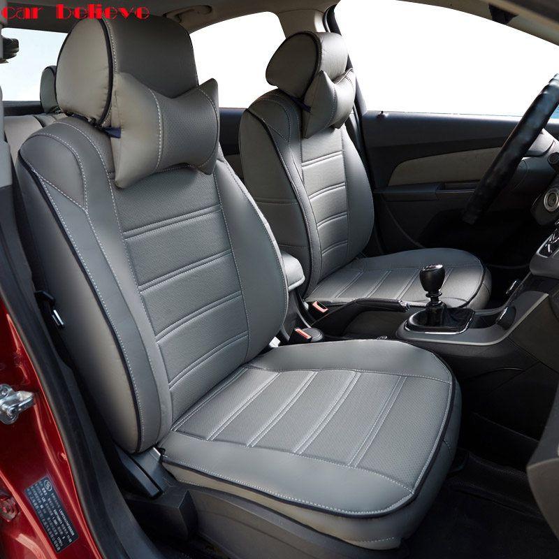 Voiture Croire Auto Automobiles En Cuir Housse De Siege De Voiture Pour Ford Focus 2 3 Fusion Mondeo Fiesta L Edge Explore Kuga Voiture Accessoires
