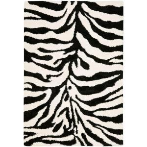 Safavieh Zebra Shag Ivory Black 4 Ft X 6 Ft Area Rug Sg452 1290 4 At The Home Depot 103 Area Rugs Zebra Print Rug Red Rugs
