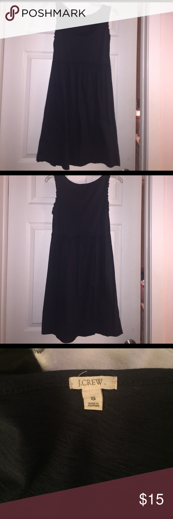 Jcrew charcoal gray cotton dress - size small Charcoal gray jcrew cotton dress size small. In great condition. Great for summer. Perfect for brunch or to wear as a swim coverup. Only worn a few times. Only getting rid of because I'm moving and have to clean out my closet. J. Crew Dresses