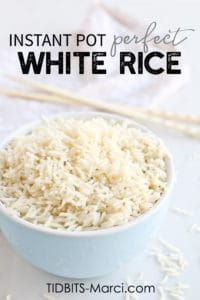 Instant Pot Perfect White Rice #whitericerecipes Instant Pot White Rice - Perfected! - Tidbits-Marci.com #whitericerecipes Instant Pot Perfect White Rice #whitericerecipes Instant Pot White Rice - Perfected! - Tidbits-Marci.com #whitericerecipes
