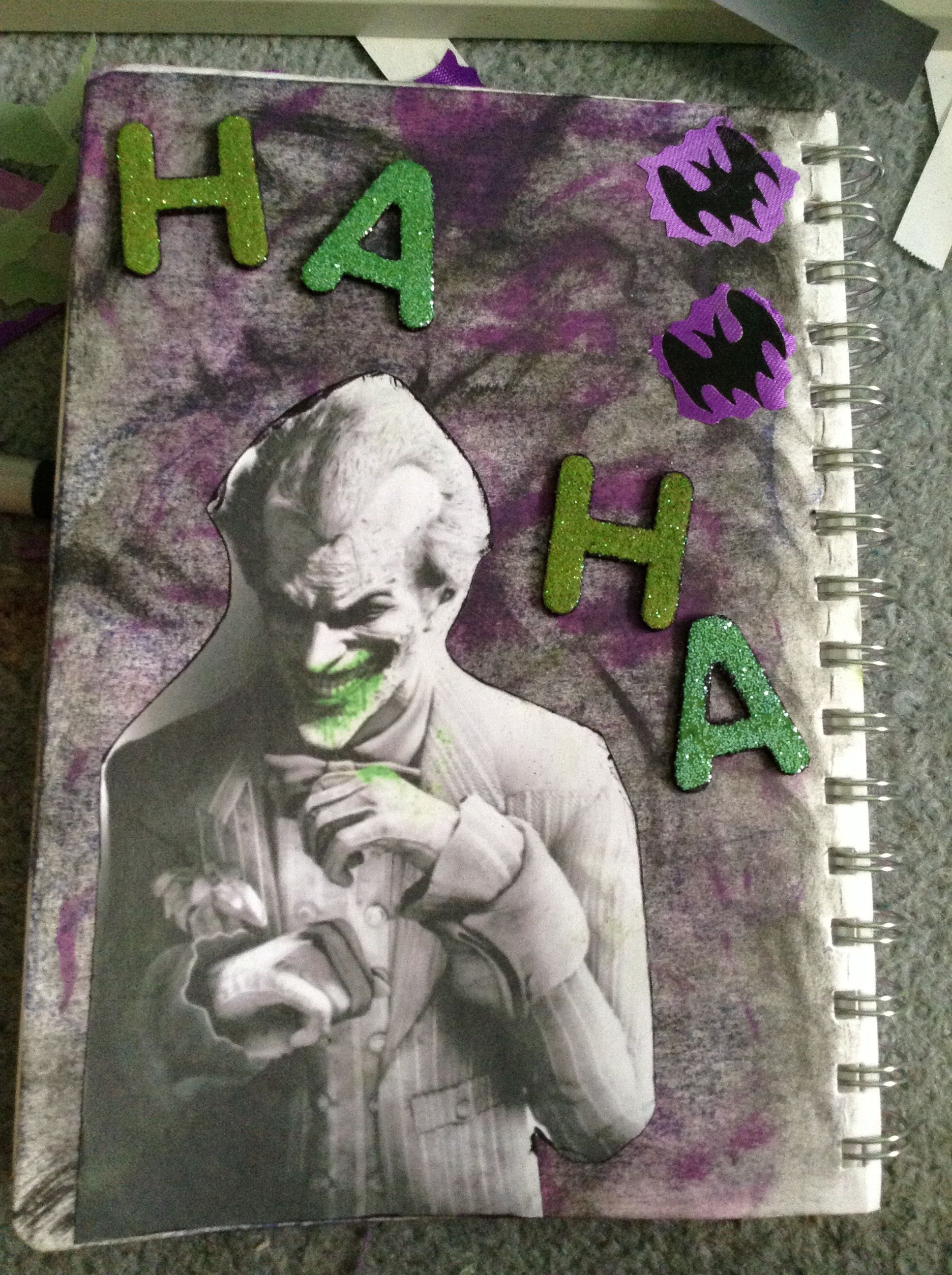 Smash book idea: favorite Villain, The Joker from Batman: Arkham video games.