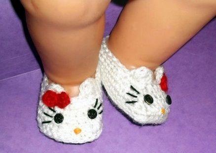 Hello Kitty Baby Shoes Crochet Pattern Crochet Hats Pinterest