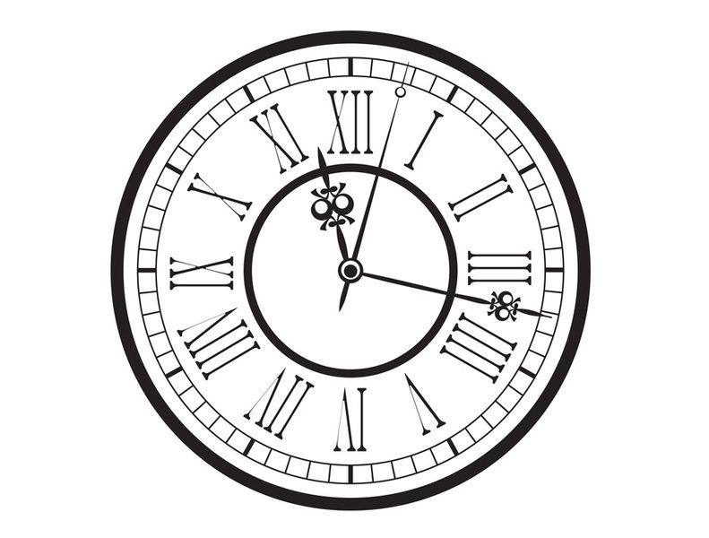 Line Drawing Clock Face : Free printable vintage pocket watch clock face old