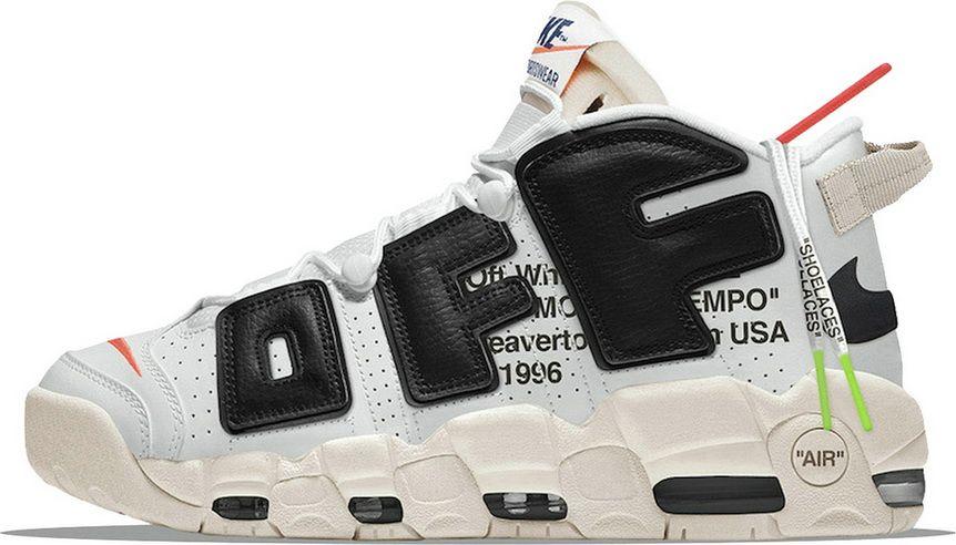 huge discount c7691 26830 Off White X Air More Uptempo Premium White Black cheap shoe websites Shoe