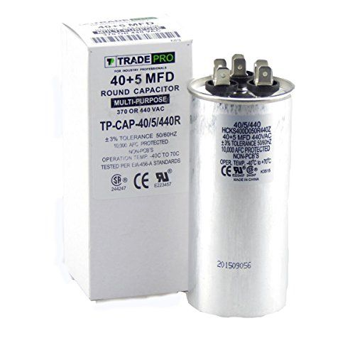 40 5 Mfd Multi Purpose 440 Or 370 Volt Round Run Capacitor