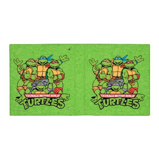Teenaged Mutant Ninja Turtles Group Shot Binder #binders