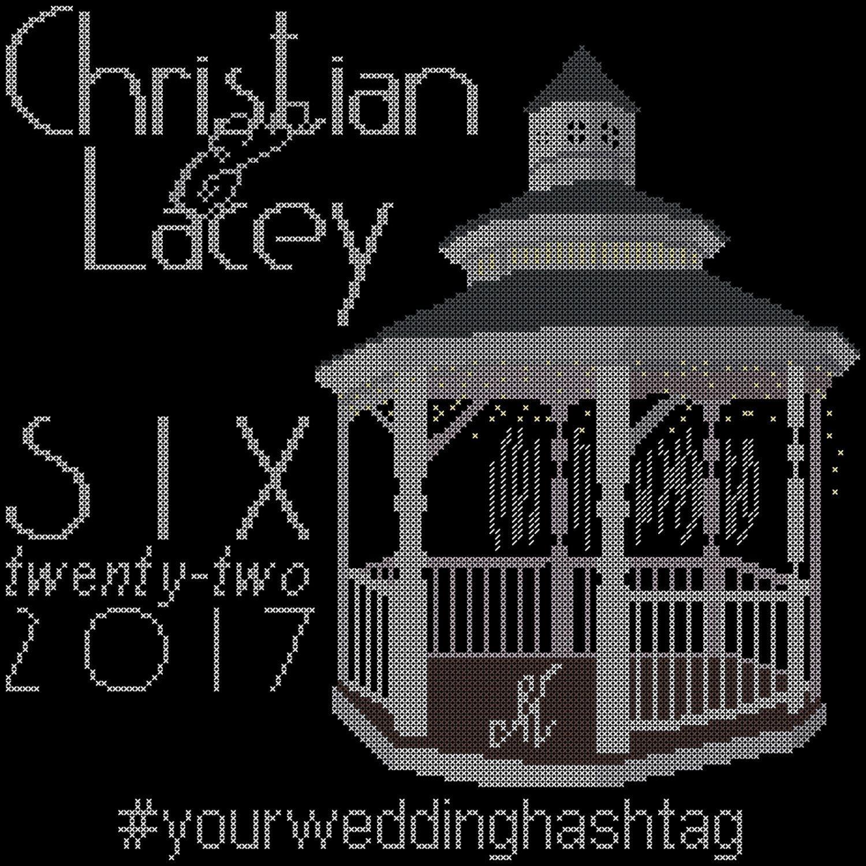 Modern Gazebo Wedding Cross Stitch Pattern by oneofakindbabydesign ...