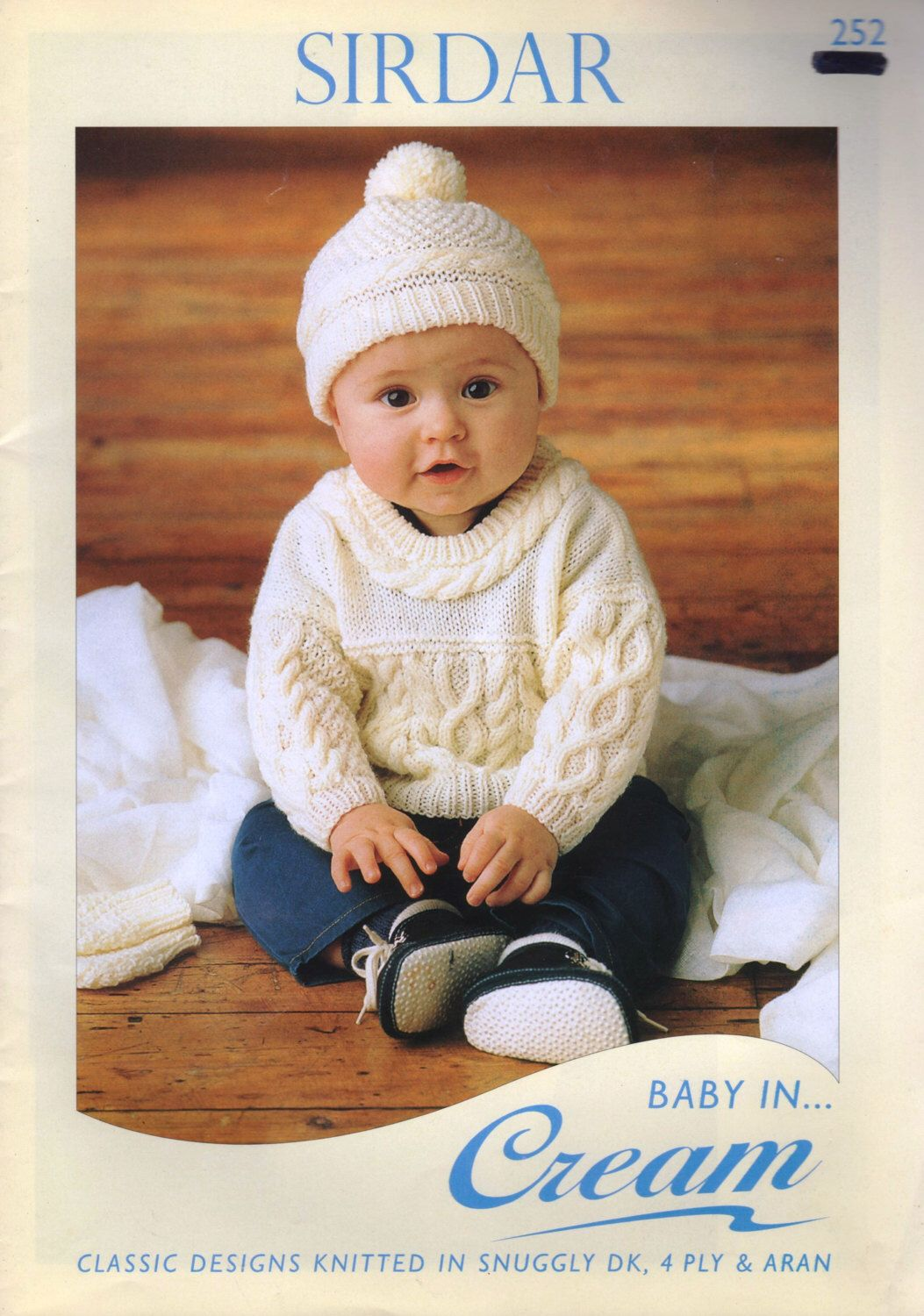 Baby Knitting Pattern Book / Baby in Cream / Newborn to 2 years / 10 ...