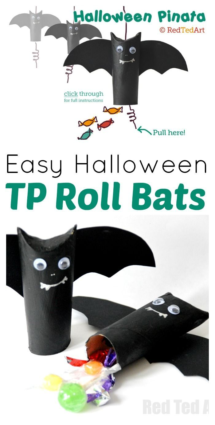 Photo of Halloween Craft: Easy Pinata / Goodie Bag – Red Ted Art – Make crafting with kids easy & fun