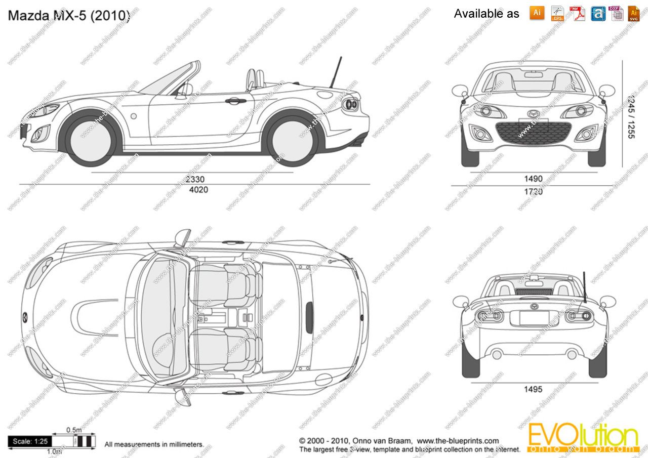 Car blueprint blueprints colection pinterest cars mazda and car blueprint blueprints colection pinterest cars mazda and mazda miata malvernweather Choice Image