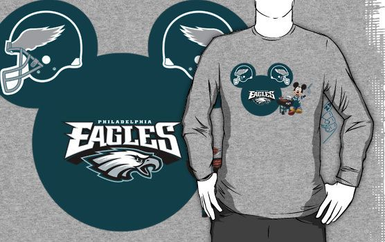 596bbae8 Philedelphia Eagles Mickey Mouse fan T-shirt by My Heart Has Ears ...