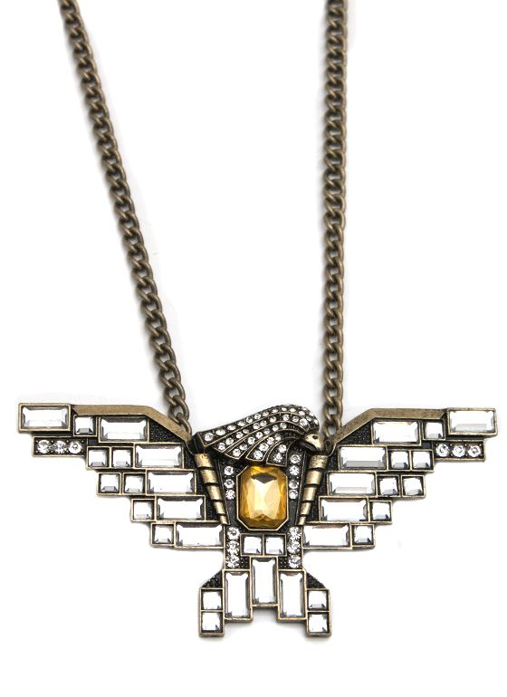 embellished eagle charm necklace $16.70