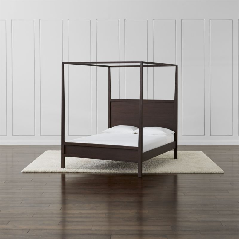 Keane Wenge Canopy Bed Crate And Barrel Queen Canopy
