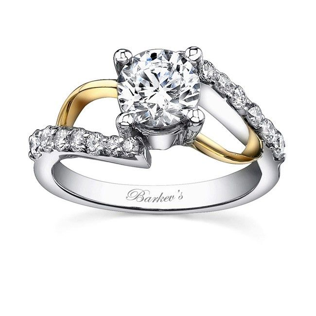 yellow and white gold engagement rings | Barkev's Two tone ... - photo #49