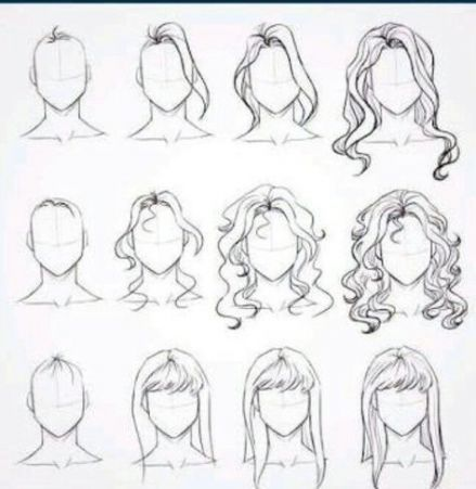 34 Ideas Drawing Hair Bangs Drawing Hair Tutorial How To Draw Hair Step By Step Sketches