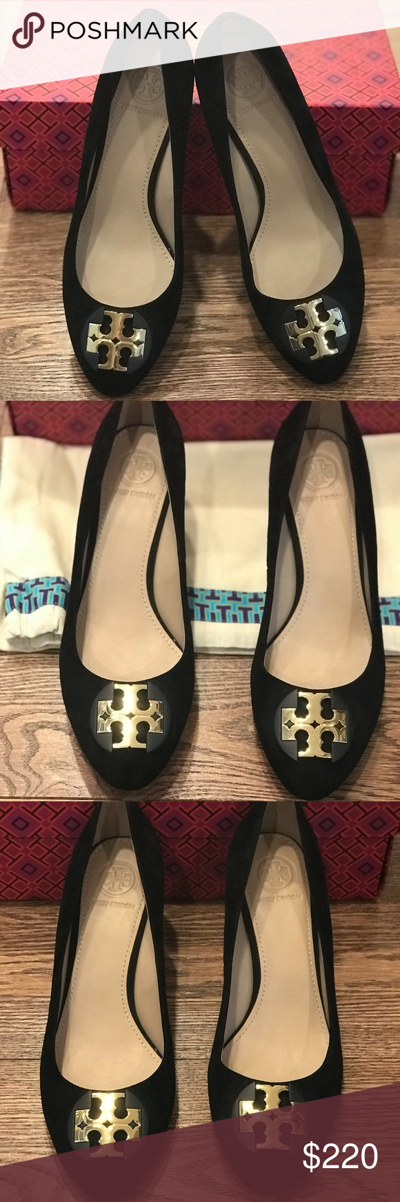 55334879fb1cc4 Tory Burch Luna Suede 65mm Wedge Pump- NIB These are a brand new in box