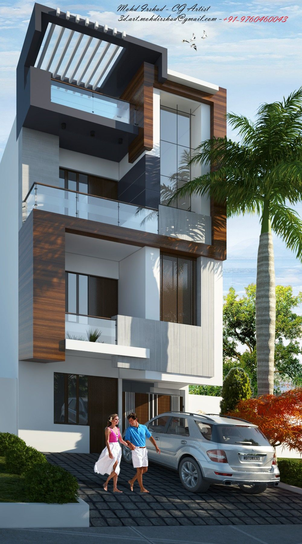Pin by Architecture Art on 3D home designs   3 storey