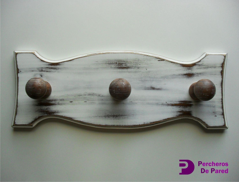 Perchero de pared clásico, fabricado en madera de pino al igual que ...