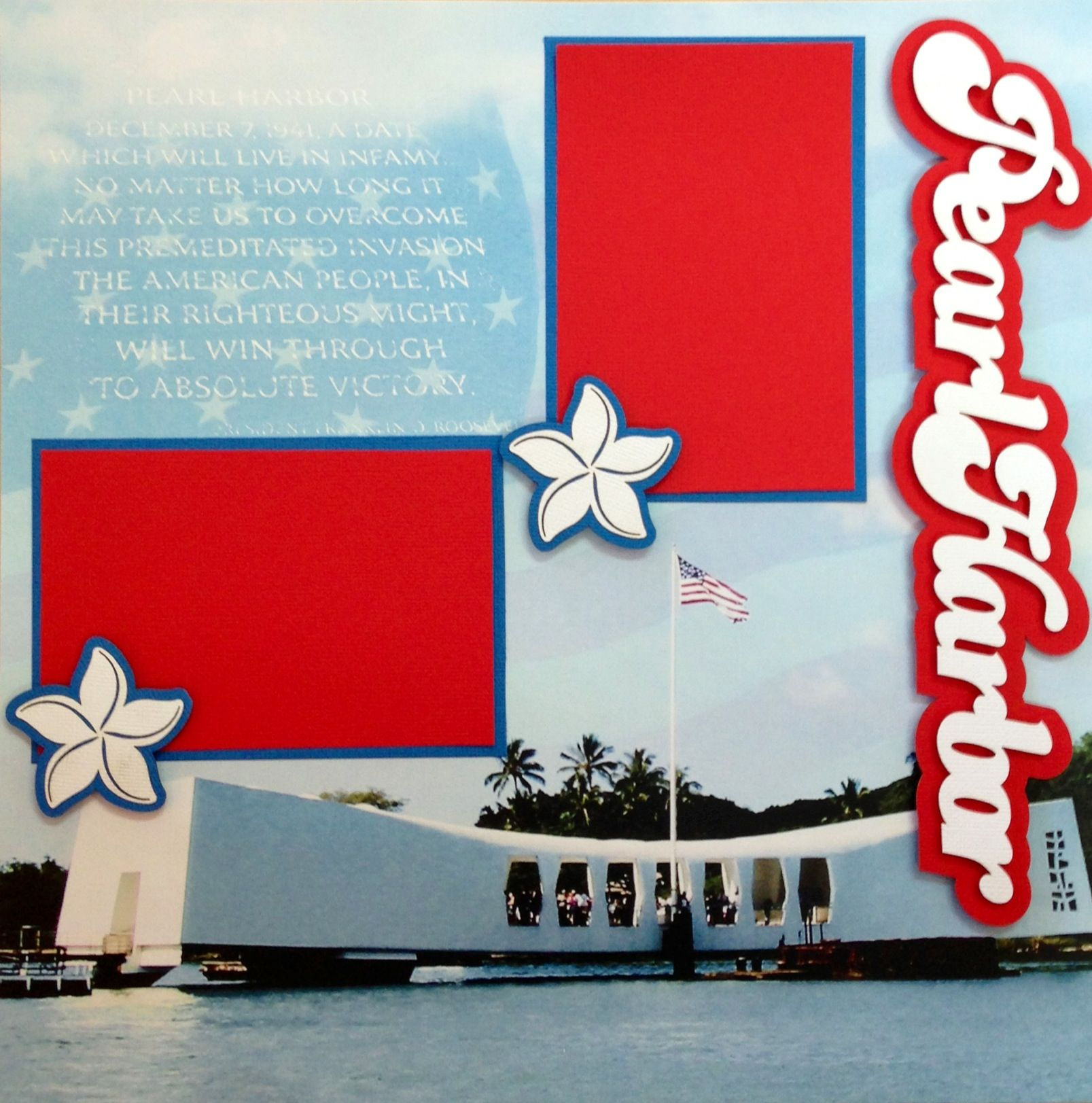 Scrapbook ideas and themes - Pearl Harbor Layout Scrapbook Pearlharbor Oahu