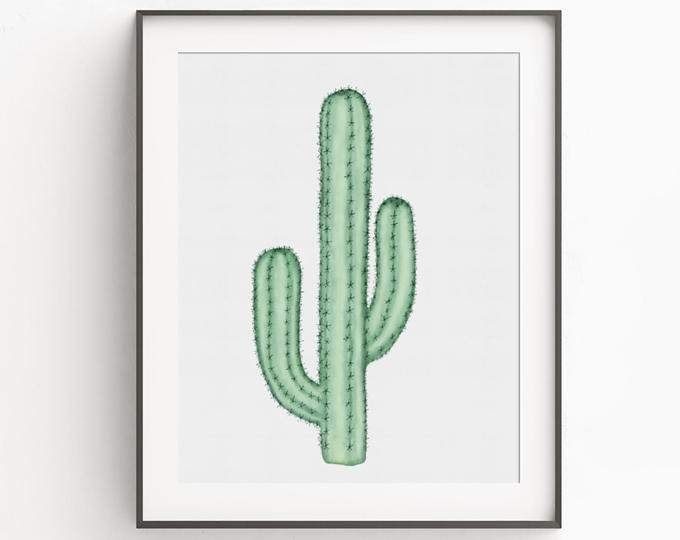 Impression D Art De Cactus Imprimerlet Art Aquarelle Cactus