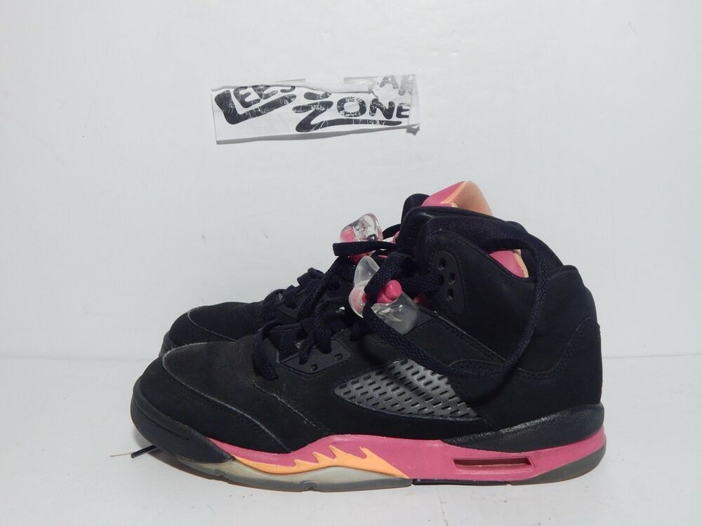 sale retailer a4cd2 a421a (eBay Sponsored) AIR JORDAN GS RETRO 5 BLACK BRIGHT CITRUS-FSN KIDS