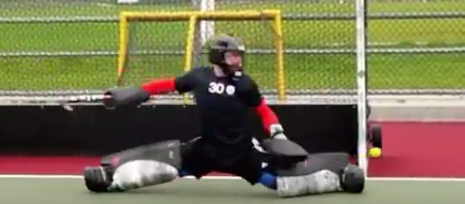 David Carter Goalkeeping Drill With Lateral Movements A Hockey World David Carter Hockey World Goalkeeper