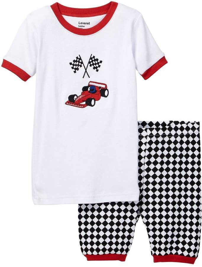 78e14a5ee Leveret Race Car Pajama (Toddler