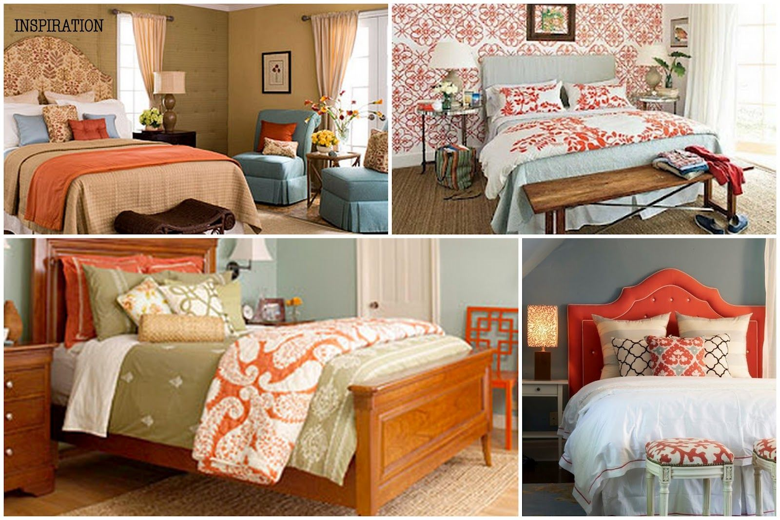 Pin On Blue Orange Bedrooms