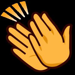 Clapping Hands Sign Emoji In 2020 Clap Emoji Clapping Hands Emoji Hand Emoji