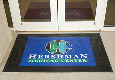 Superscrape Impressions #Logo #Mats are made with 100% Nitrile industrial-grade #rubber. The all-rubber logo mat bonds different pieces of colored rubber to form the design of your logo. Vibrant color tones produce unparalleled details and clarity.  #retail #marketing #smallbusiness