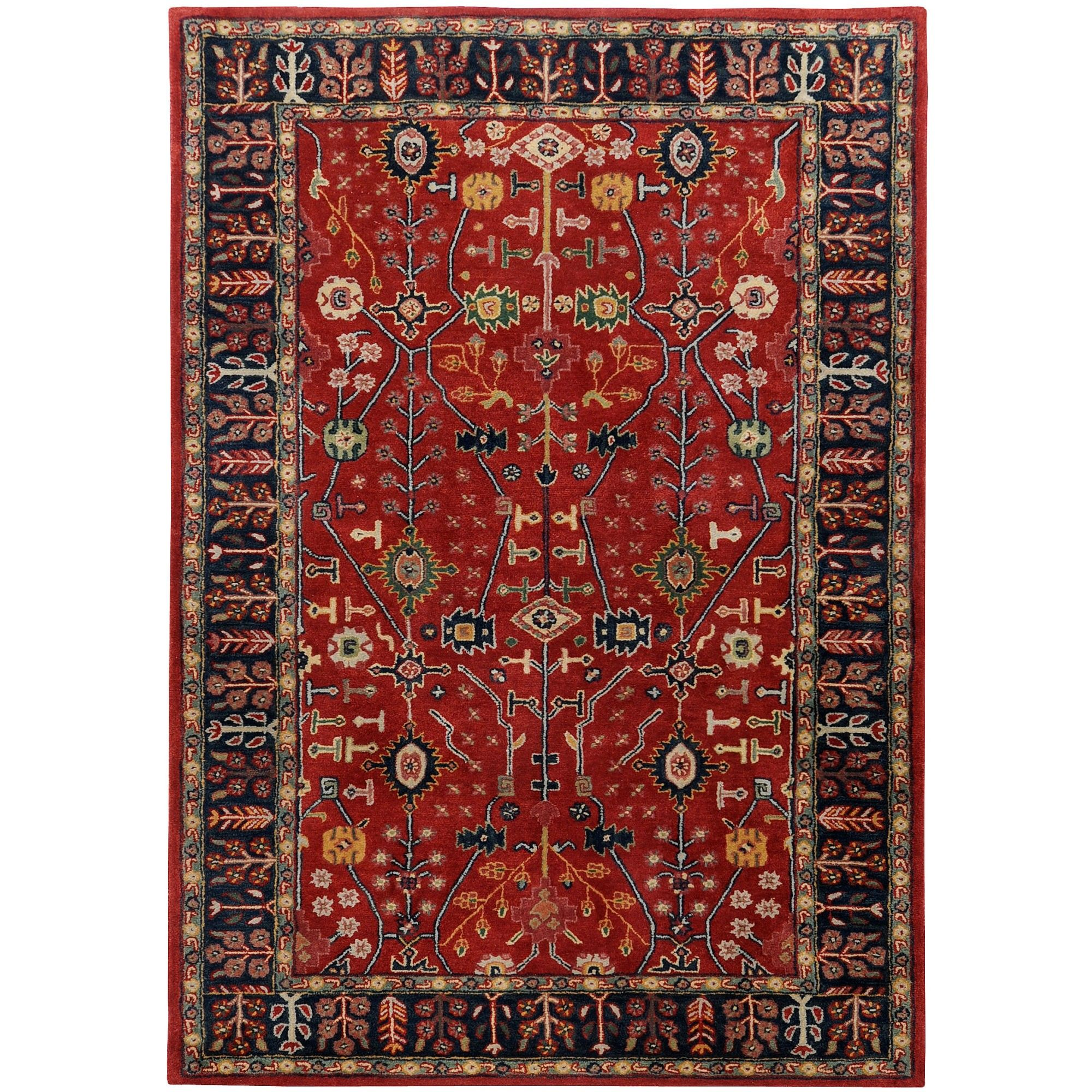 Red Rugs For Kitchen Surya Ancient Treasures Red Navy Oriental Rug A135 Copy Cat