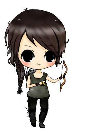 cartoon katniss hunger games pinterest hunger games