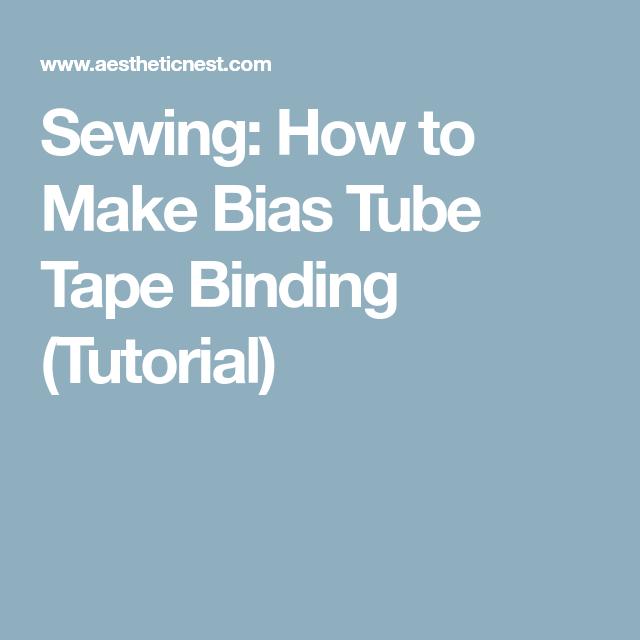 Sewing: How To Make Bias Tube Tape Binding (Tutorial