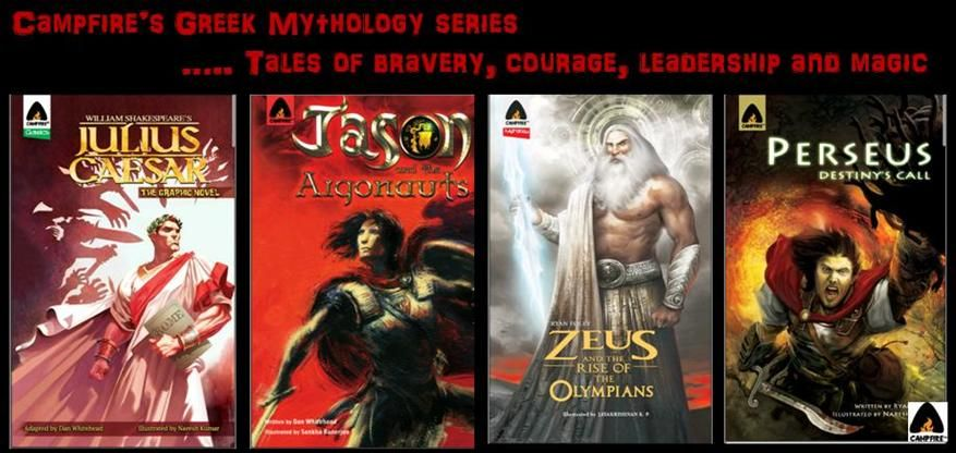 This month, pick up one of Campfire's Greek Mythology Series and discover tales from way back before humans walked the Earth; of gods, kings, brave warriors, love and magic, and a comprehensive account of the world they lived in… http://www.campfire.co.in/t/genre/mythology