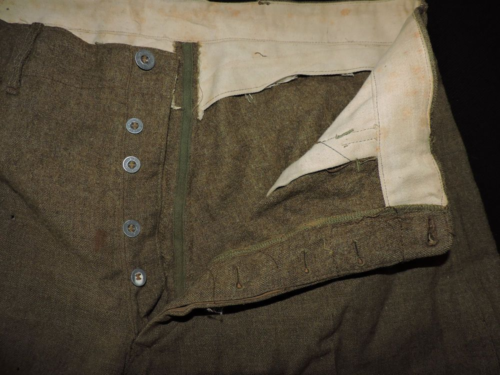 RARE Vtg 30s 40s WWII USA Army Cavalry Wool Horse Riding Pants Metal ...