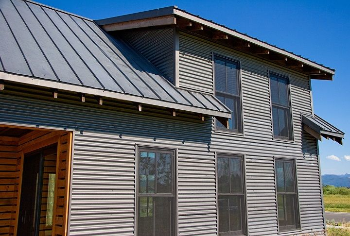 Corrugated Metal House Corrugated Metal Siding Steel Siding Metal Siding