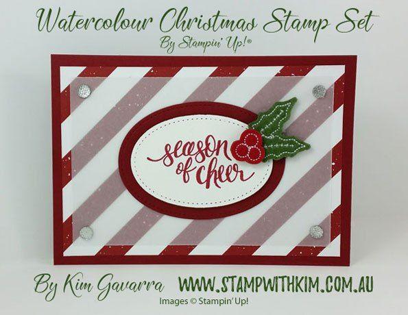 Be Merry Designer Series Paper \u2013 Stampin\u0027 Up! Watercolor Christmas