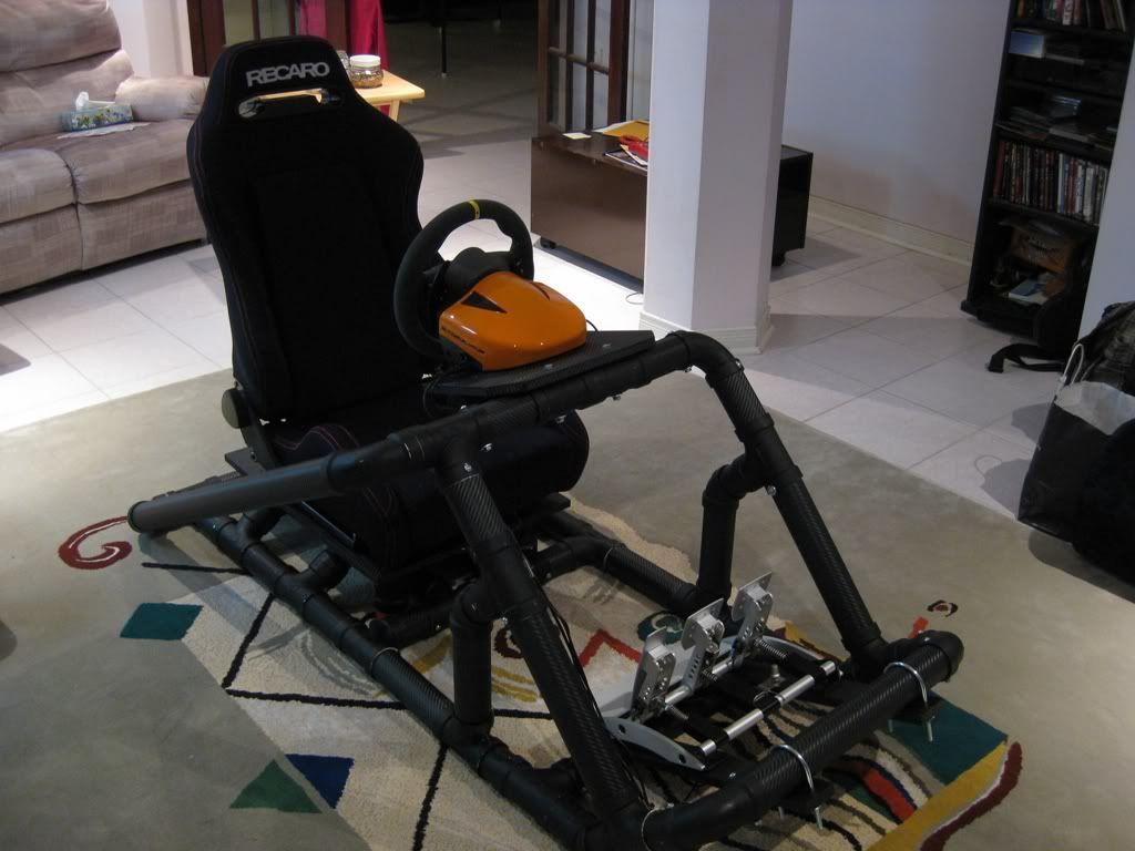 racing seat office chair diy target threshold sling the pvc video games pinterest rasberry pi arduino