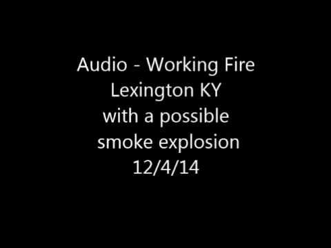 Audio - 2nd Alarm Fire Lexington KY, 3 Firefighters Injured.