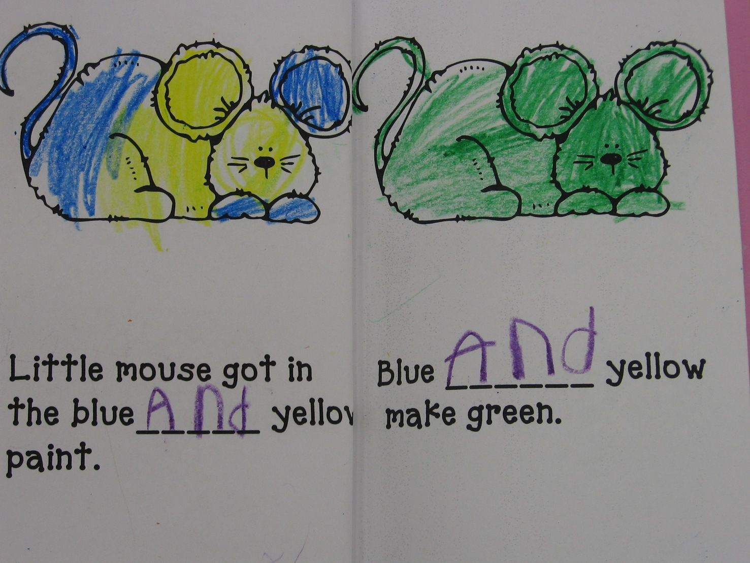 Goes With Mouse Paint Sight Word