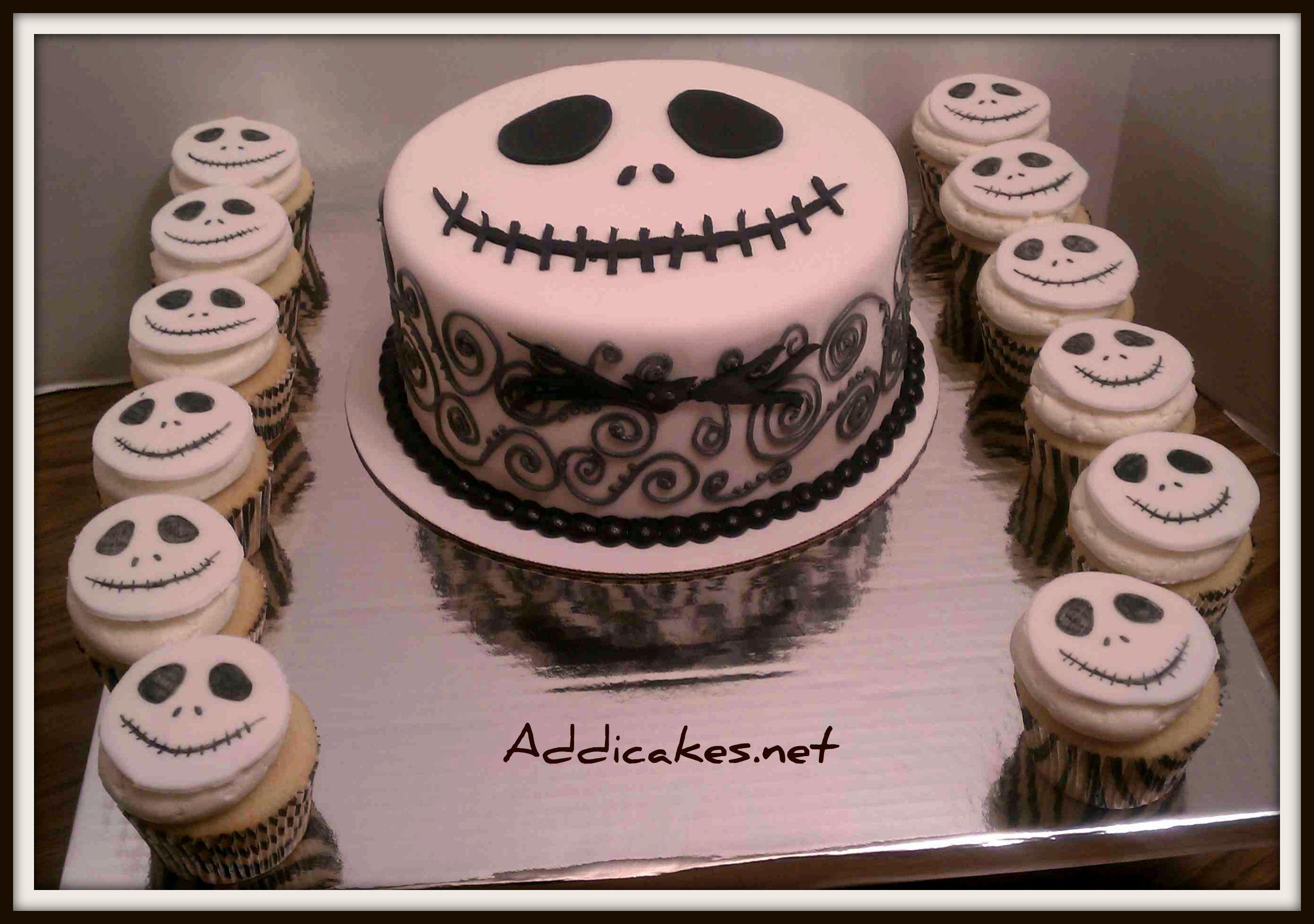 Jack Skellington Cake And Cupcakes My Step Daughters Birthday Cake