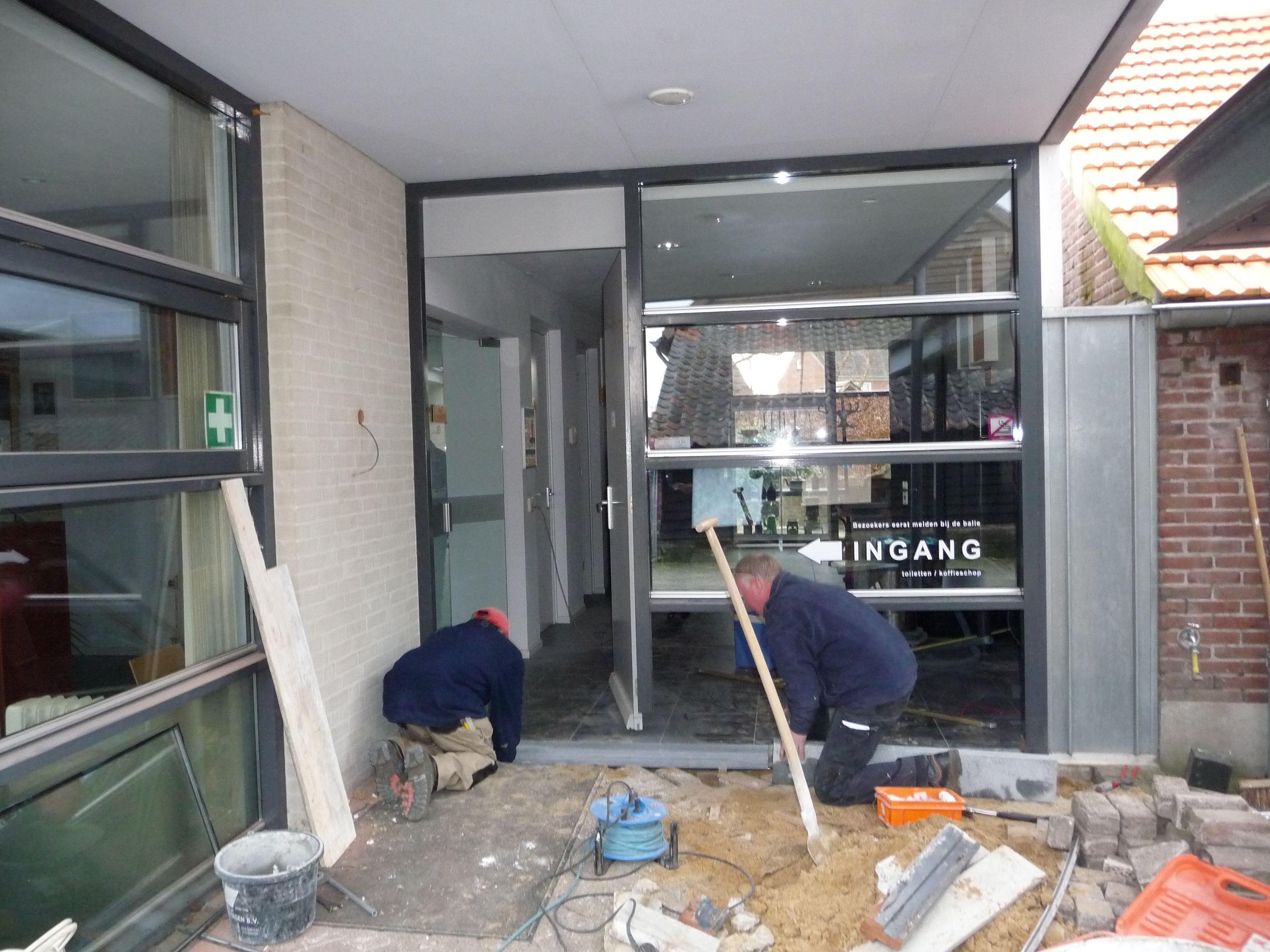 Ons museum krijgt een nieuwe entree met 2 schuifdeuren verbouwing museumboerderij pinterest - Versier een entree ...